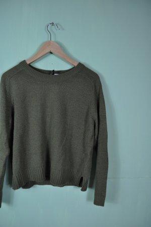Khakifarbener Pullover / Cropped von H&M