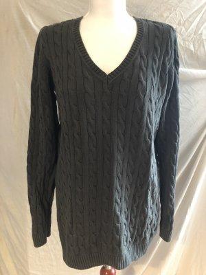 Strauss Innovation Norwegian Sweater green grey-khaki cotton