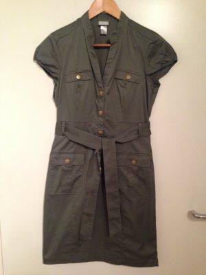 Khakifarbenes Blusen-Kleid von H&M in Größe 40