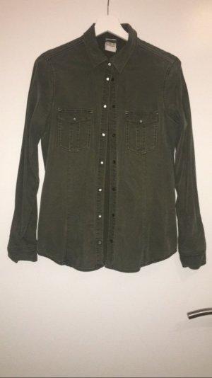 Khakifarbenes Hemd/Bluse von Zara Gr. XS
