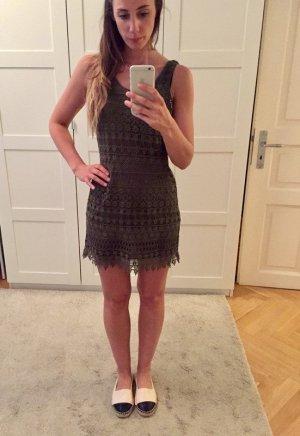 H&M Mini vestido caqui