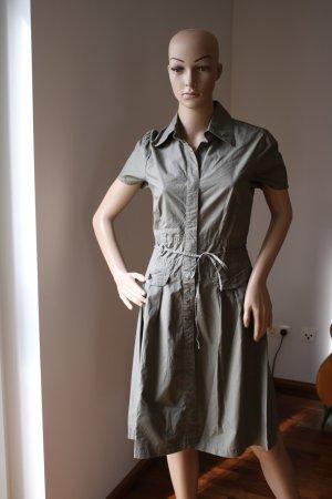 Khakifarbenes, knielanges Hemdblusenkleid von s´ Oiver Gr. 36