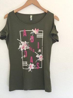 Khakifarbenes Shirt von Adidas Neo