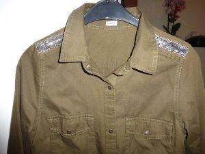 Khakigrünes Hemd Gr. 34