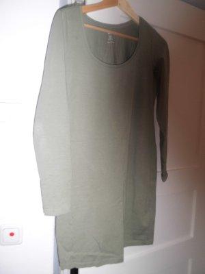 khakigrünes Shirtkleid kurz übers Knie lang, Größe M