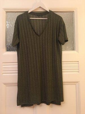 khakigrünes T Shirt Kleid Zara