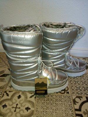 100% Fashion Bottes de neige argenté