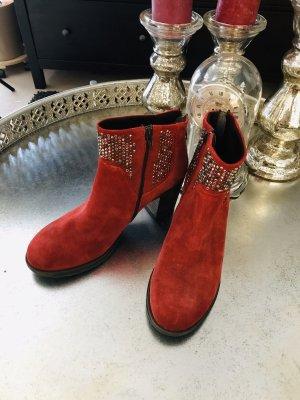 Khrio italy vera Pelle Leder Stiefel rot gr. 41