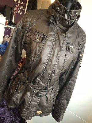 Khujo Bikerjacke Winterjacke gefütterte Jacke mit Gürtel Gr. L XL