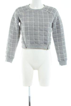 Khujo Cropped Shirt hellgrau Karomuster Casual-Look