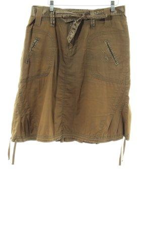 Khujo Gonna a pieghe marrone-bronzo stile casual