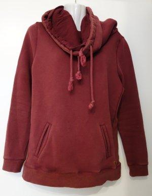 khujo flauschiger Sweater Gr. S/M weinrot bordeaux Casual Street Wear Lagenlook