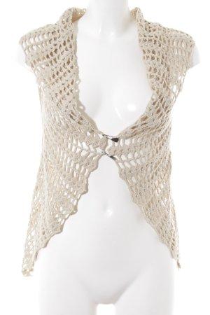 Khujo Crochet Cardigan cream hippie style