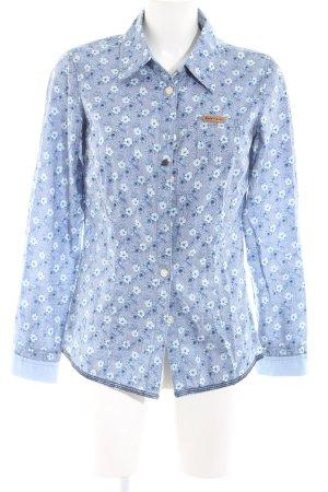 Khujo Hemd-Bluse blau Allover-Druck Casual-Look