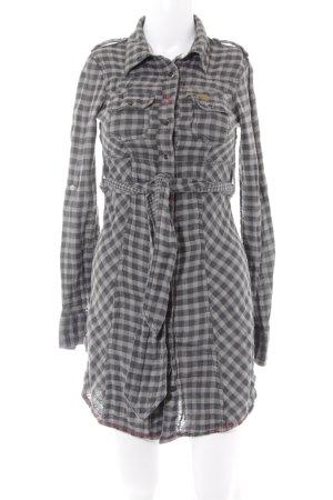 Khujo Shirtwaist dress check pattern casual look