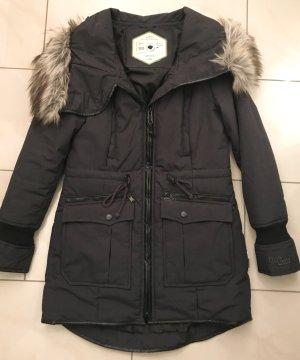 Khujo Jacke Mantel mit Kunstfell Größe L (fällt wie M aus)