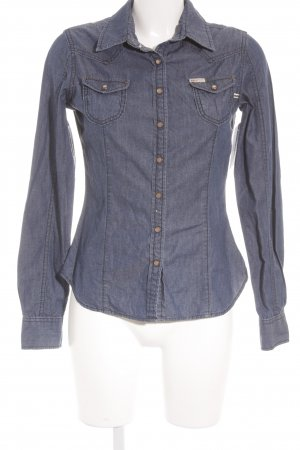 Khujo Jeanshemd blau Country-Look