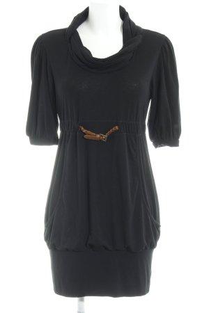 Khujo Jerseykleid schwarz-braun Casual-Look