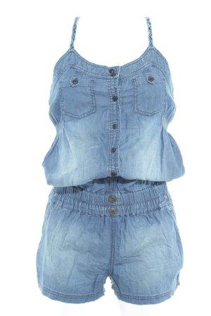 Khujo Jumpsuit stahlblau Jeans-Optik