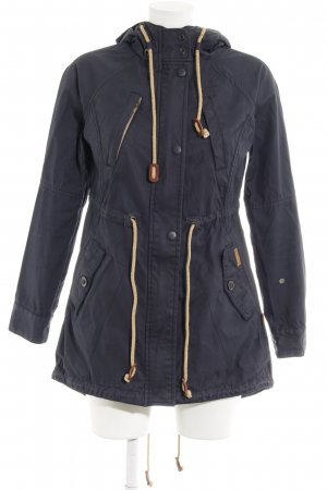 Khujo Hooded Coat dark blue-cream casual look