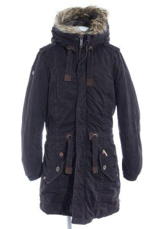 Khujo Manteau à capuche brun foncé style décontracté