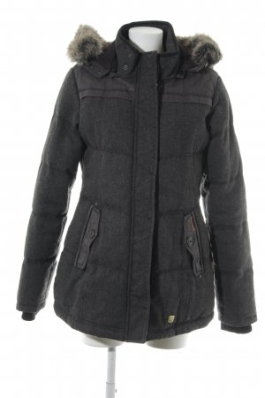 Khujo Hooded Coat dark grey vintage look