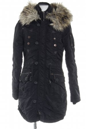 Khujo Hooded Coat black-anthracite casual look