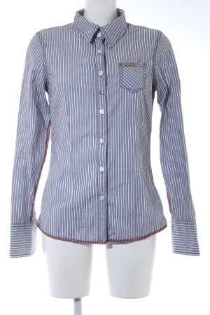 Khujo Langarmhemd schwarz-weiß Streifenmuster Casual-Look