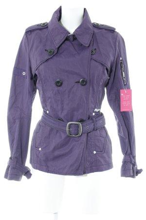 Khujo Lange Jacke dunkelviolett 90ies-Stil