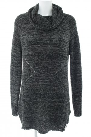 Khujo Long Sweater light grey-black flecked casual look