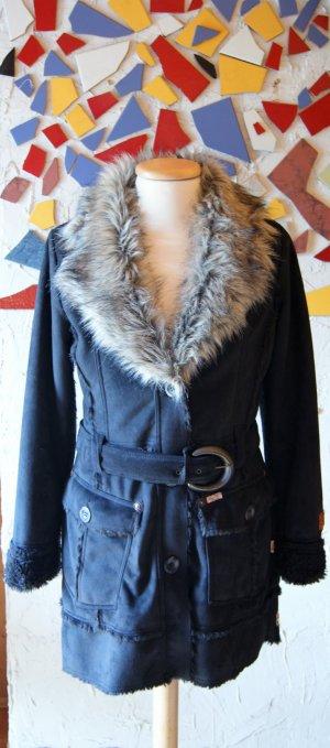 Khujo Manteau d'hiver bleu foncé