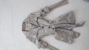 Khujo Mantel / Trenchcoat, Gr. L, hell / beige