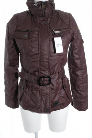 Khujo Outdoor Jacket brown red casual look