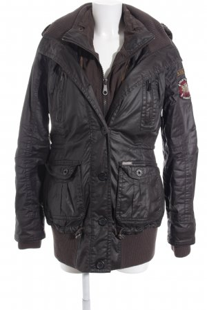 Khujo Outdoorjacke dunkelbraun Casual-Look