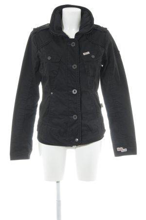 Khujo Outdoorjacke schwarz schlichter Stil