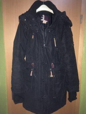 Khujo Abrigo con capucha negro