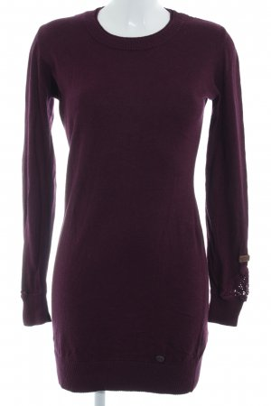 Khujo Sweater Dress blackberry-red casual look