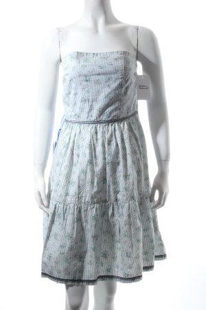 Khujo schulterfreies Kleid florales Muster Retro-Look
