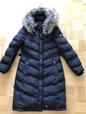 Khujo Quilted Coat black polyester