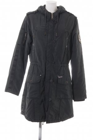 Khujo Quilted Coat dark green athletic style