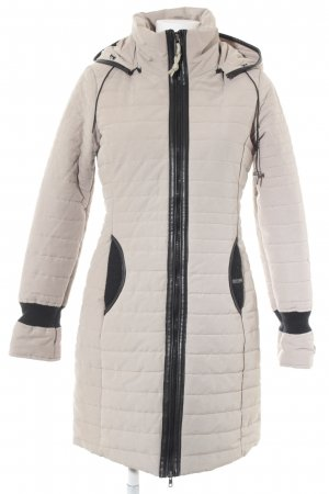 Khujo Quilted Coat oatmeal quilting pattern casual look