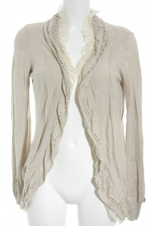 Khujo Strickjacke beige-creme Casual-Look