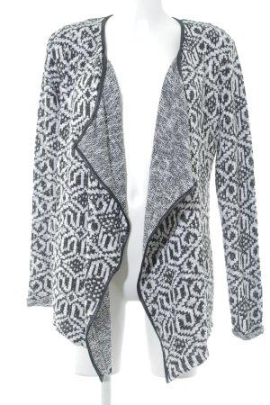 Khujo Strickjacke schwarz-wollweiß grafisches Muster Casual-Look