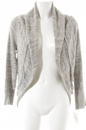 Khujo Knitted Coat white-light grey flecked casual look