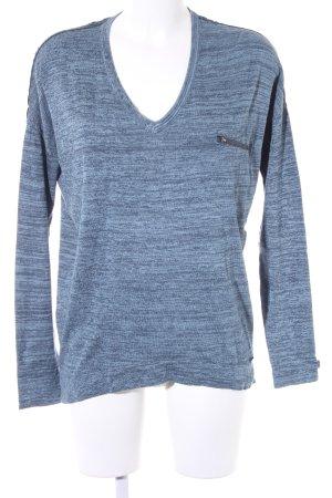 Khujo Strickpullover blau-blassblau meliert Casual-Look