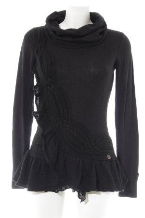 Khujo Strickpullover schwarz schlichter Stil
