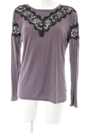 Khujo Sweatshirt grauviolett-schwarz Elegant