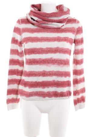 Khujo Sweatshirt wollweiß-ziegelrot Streifenmuster Casual-Look