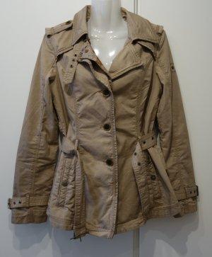 Khujo Trenchcoat Mantel beige tailliert Gr. S (36/38) Retro Chic