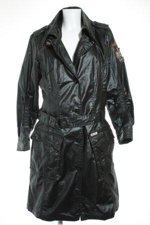 Khujo Trenchcoat schwarz Casual-Look